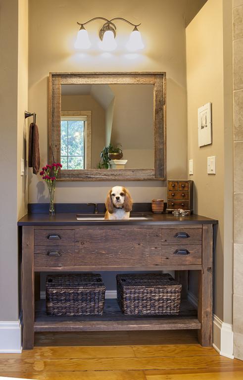 Upstairs Bathroom Vanity w/Ollie