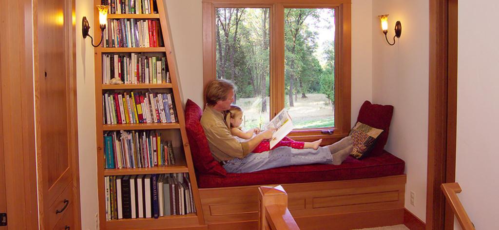 Window Seat & Bookcase
