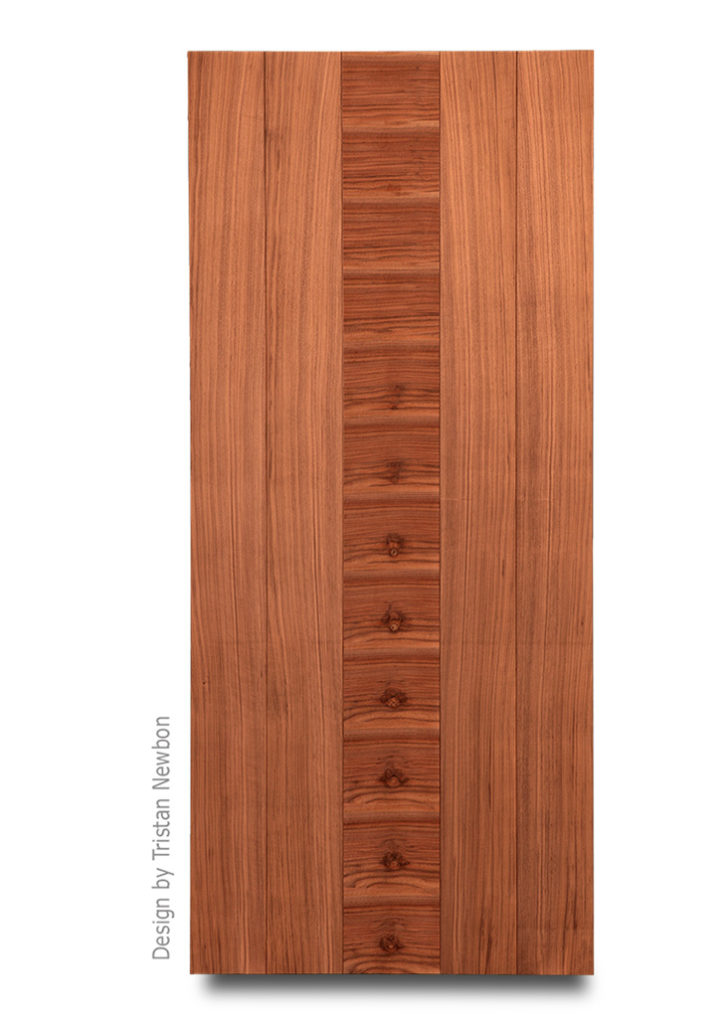 Center Panel Walnut Door design by Tristan Newbon