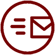 New mail icon Maroon 112