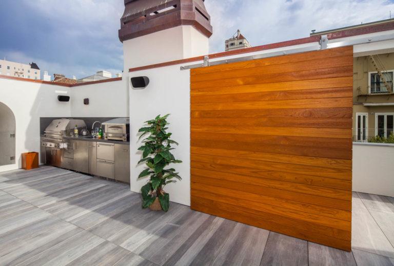San Francisco Rooftop - Teak Doors