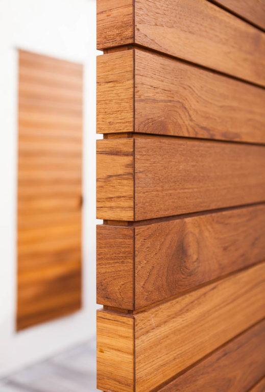 Teak Doors - Detail